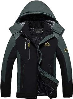 BIYLACLESEN Men's Winter Coats Fleece Lined Ski Jacket...