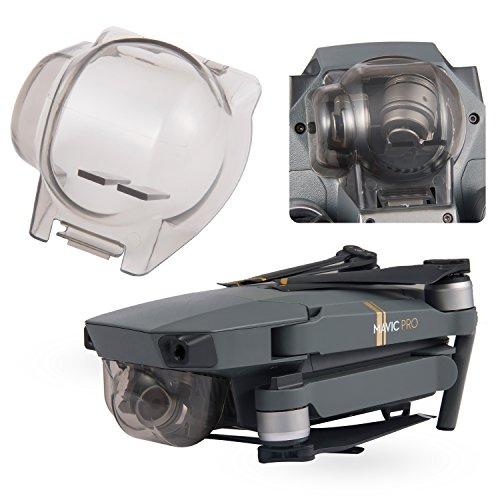 Aterox DJI Mavic Pro/Platinum Gimbal Lock Camera Guard Protector Transport Fixed Lens Cover Accessories (Transparent Gray)