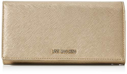 Love Moschino Bustina PU, Cartera. para Mujer, Dorado (Oro), 13x24x3...