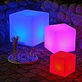 Canyonlands multifunktionale Premium Outdoor Akku LED Gartenleuchte Leuchtwürfel (inkl. Fernbedienung), in versch. Größen - 7 Farben - (30 cm)