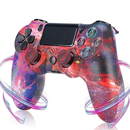 PS4 Controller, Controller PS4 Game con Vibrazione Dual Shock, Somatosensoriale a 6 Assi, Audio, Joystick PS4 Bluetooth Wireless Controller Gamepad per PlayStation 4/PS4 Pro/Slim ( Color : Red sky )