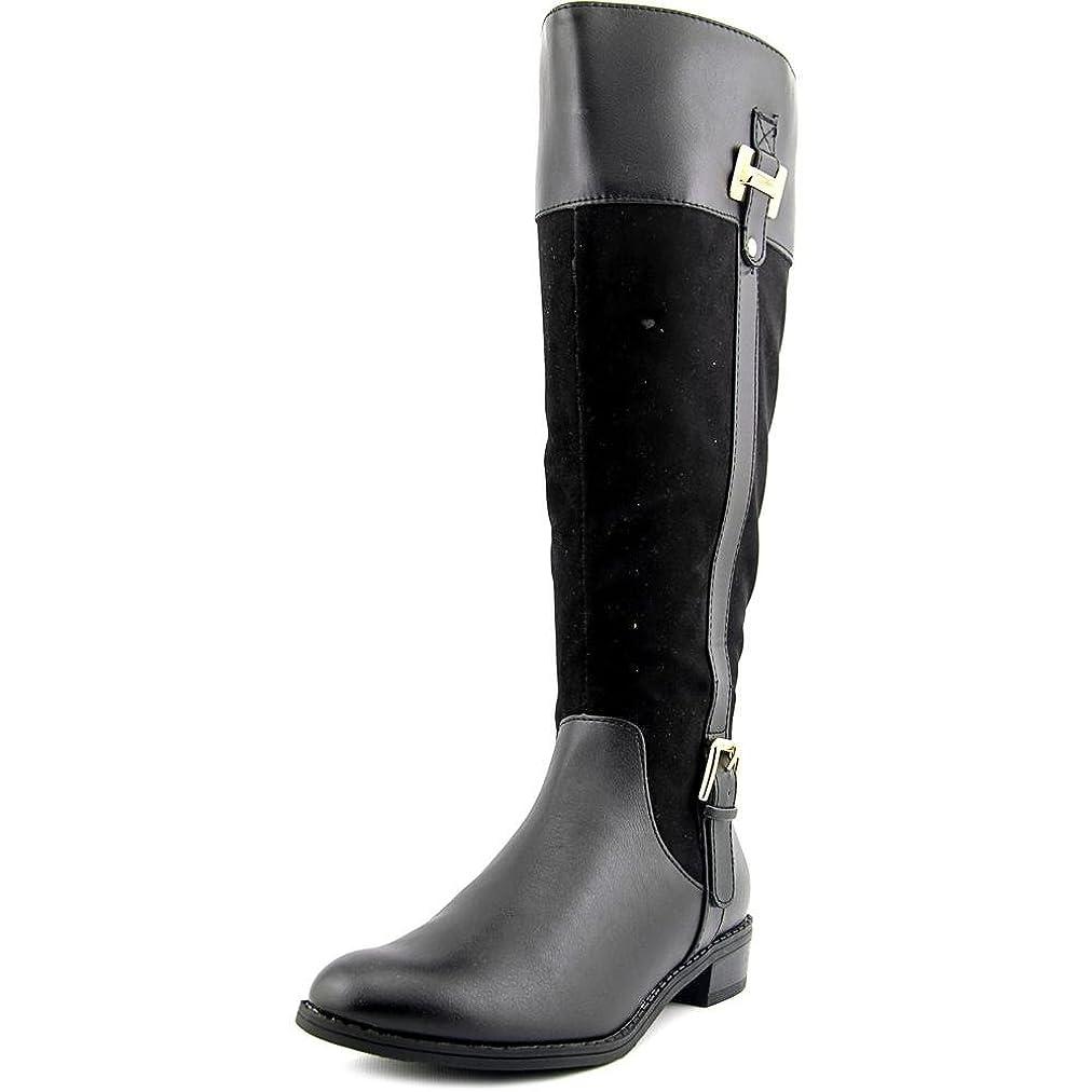 区鎮静剤団結Karen Scott Womens Deliee Wide Calf Closed Toe Leather Riding Boots