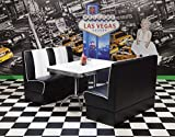 moebelstore24 Sitzgruppe Essgruppe American Diner Vegas/King 4-50er Jahre 3 Teilig