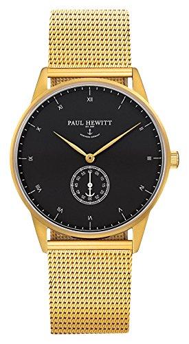 Paul Hewitt Reloj analogico para Unisex de Cuarzo con Correa en Acero Inoxidable PH-M1-G-B-4S