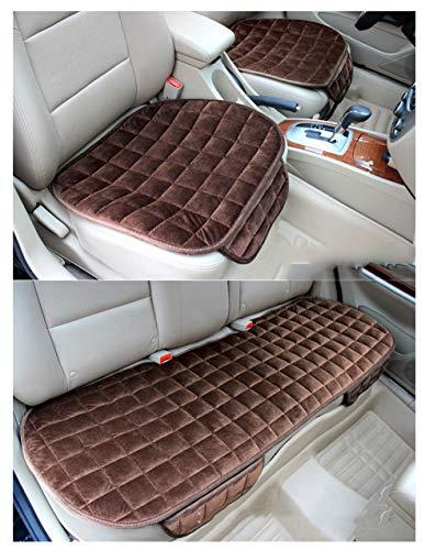 GUOCU Auto Sitzkissen Kissen - Bambuskohle Atmungsaktiv Auto Sitzkissen Kissen,Kaffee,Vordersitz & Rücksitz
