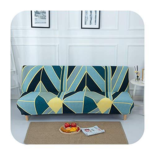 KASHINO plegable sofá cama cubierta para sala de estar sofá sin brazos cubre material elástico spandex suave slipcovers-color 15-S (longitud 120-150cm)