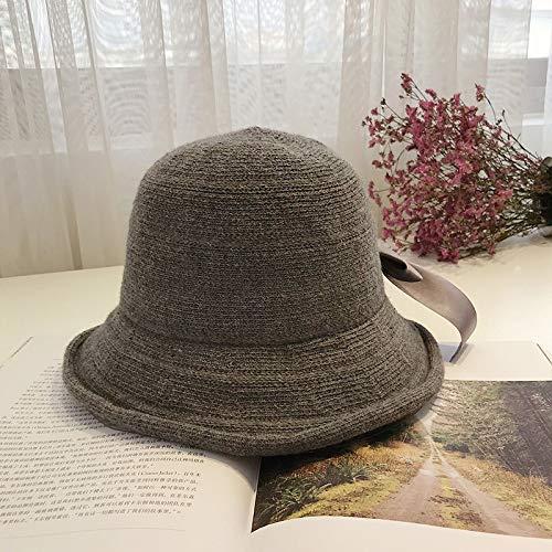 geiqianjiumai Fisherman hoed herfst winter dames retro mode wastafel hoed wilde wol hoed zonnebrandcrème tij
