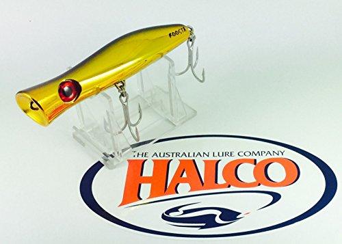 Superior topwater lure by Halco Roosta Popper 105'30g, color H51CH/GD Retro Nero