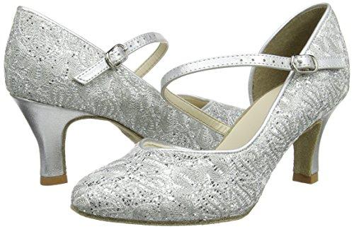 So Danca Damen Standard & Latein Tanzschuhe – Standard & Latein Bl504, Silber (Silver Sparkle), 41.5 EU (11 US) - 5