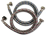 Best Washer Hoses - Premium Stainless Steel Washing Machine Hoses with 90 Review