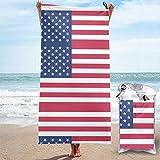 Sandfreie Badehandtücher Amerikanische Flagge Kostenlose schnell trocknende Strandtücher Badetuch Travel Strandtuch, Schwimmsporttuch für Frauen Männer Strandzubehör