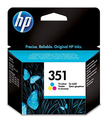 HP 351 CB337EE - Cartucho de Tinta Original, Tricolor, compatible con impresoras de inyección de tinta HP Deskjet D4260, D4300, Photosmart C5280, C4200, Officejet J5780, J5730