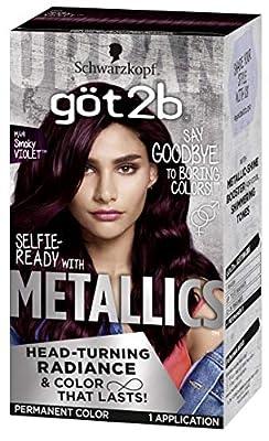 Got2b Metallic Permanent Hair Color, M49 Smoky Violet