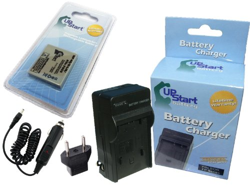 Replacement for Sanyo Xacti VPC-E1090 Battery and Charger with Car Plug and EU Adapter - Compatible with Sanyo NP-40 UF553436 Digital Camera Batteries and Chargers (750mAh 3.7V Lithium-Ion)
