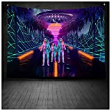 ZHMIAO Rick-Morty Tapestry Tapestry Anime Tapestry Tapestry Tapestry Tapestry Tapestry Tapestry Tapestry Tapestry Tapisserie murale pour fête de chambre d'anniversaire Violet 150 x 150 cm