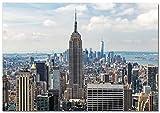Panorama Póster Empire State 30 x 21 cm Impreso en Papel 250gr Póster Pared Cuadros Decoración Salón Cuadros para Dormitorio Póster Decorativos Cuadros Modernos