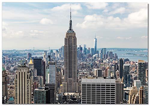 Panorama Póster Empire State 50 x 35 cm Impreso en Papel 250gr Póster Pared Cuadros Decoración Salón Cuadros para Dormitorio Póster Decorativos Cuadros Modernos
