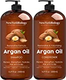 New York Biology Moroccan Argan Oil Shampoo and Conditioner - Moisturizing and Volumizing for All Hair Types and Color...