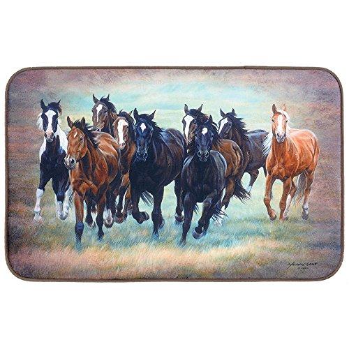 Black Forest Decor Wild Horses Comfort Floor Mat
