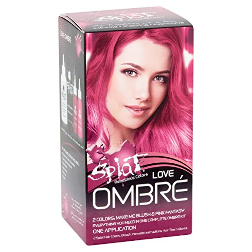Splat Ombre Love | Original Complete Kit | Semi-Permanent Pink Ombre Hair Dye | Vegan & Cruelty-Free