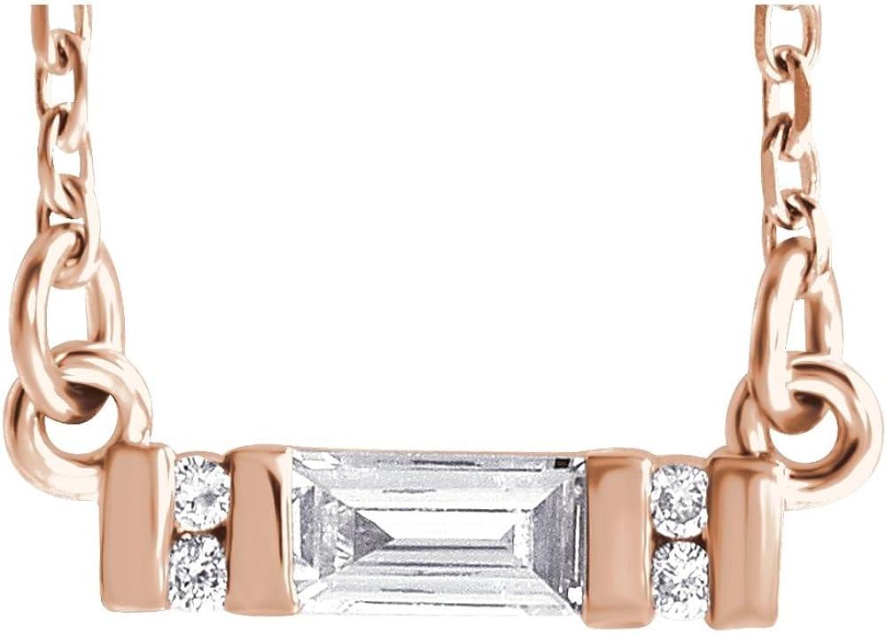 14k Rose Gold Polished 0.1 Dallas Mall Dwt Diamond Necklace Gift half Jewelry Bar