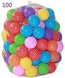 ZZM 100 Bolas de Colores Plástico Pelotas Multicolores del Océano Respetuoso del Medio Ambiente de Colores de plástico