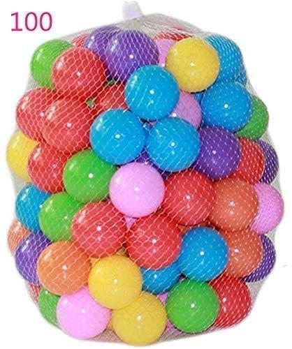ZZM 100 Bolas de Colores Plástico Pelotas Multicolores del
