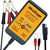 Mroinge 12V 2A Lead Acid & Lithium(LiFePO4) Automatic Trickle Battery Charger Smart Battery Maintainer for Car Motorcycle Lawn Mower Boat ATV SLA AGM Gel Cell Lithium(LiFePO4) and More Batteries