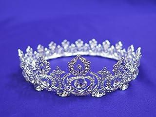 Princess rhinestone crown bun wrap #23