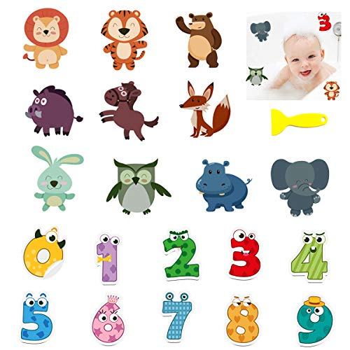 Senteen Antideslizante Bañera Pegatinas, 20 Pcs Pegatinas Bañera Infantiles Decorativas Adhesivos Bañera Bebe, para Baño Ducha Piscina Escaleras para Niños
