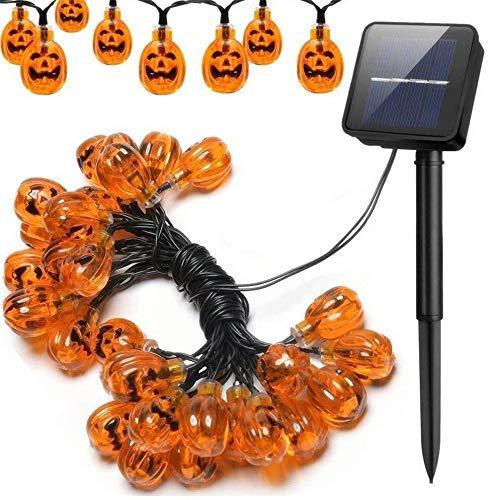 Solar Pumpkin Smiley Lichterketten, wasserdichte Solar dekorative Lichterketten die Partydekoration im Innen- und Außenbereich, modern