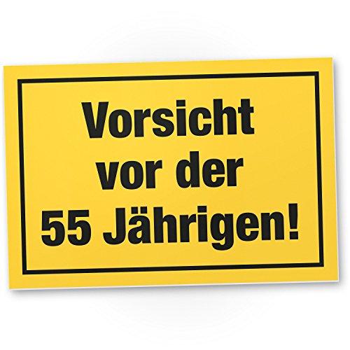 Wees voorzichtig voor de 55 jaar, plastic bord - cadeau 55. Verjaardag vrouwen, cadeau-idee verjaardagscadeau vijfvijfmiste, verjaardagsdecoratie/partydecoratie/feestaccessoires/verjaardagskaart
