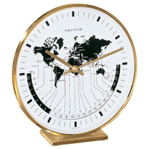 Hermle Zwarte Woud Klokken Vernikkelde Wereld Tijd Klok