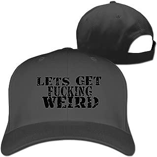 Unisex Let's Get Fucking Weird Peaked Cap Sun Protection Trucker Hat Cricket Cap