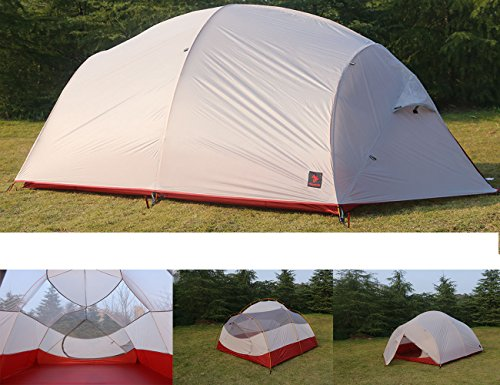Luxe Tempo 4 Person Ultralight Family Camping Tent High-End SIL Nylon Backpacking Tent 3-4 Season Tunnel Tent