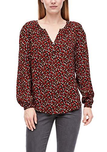 Q/S designed by - s.Oliver Damen 510.10.009.10.100.2043647 Bluse, Black AOP, 40