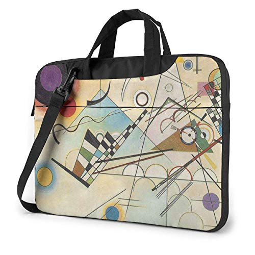 Composition 8 by Kandinsky Estuche para computadora portátil de 15.6 Pulgadas Bolso de Mano para computadora Bolso Bandolera para Viajes de Negocios