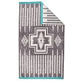 [ ペンドルトン ] PENDLETON タオルブランケット オーバーサイズ ジャガード タオル XB233-55165 ハーディンググレー Oversized Jacquard Towels Harding Grey 大判 バスタオル [並行輸入品]