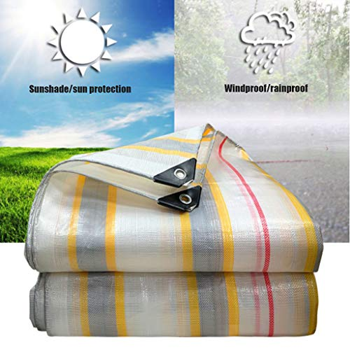 Universal Tarp cover Tarpaulin Heavy Duty Waterproof Outdoor Versatile Sheet Cover Dustproof Rainproof Tarp Reinforced Rip-Stop Great Tent