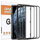 opamoo Protector Pantalla para iPhone 11 Pro , [3 Pack] iPhone XS Cristal Templado Cobertura Completa con marco de alineación 9H Sin Burbujas Vidrio Templado para iPhone 11 Pro/ XS / X Templado- 5,8