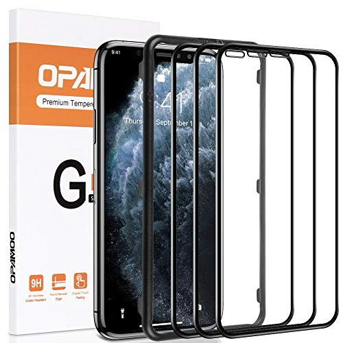 opamoo Protector Pantalla para iPhone 11 Pro , [3 Pack] iPhone XS Cristal Templado Cobertura Completa con marco de alineación 9H Sin Burbujas Vidrio Templado para iPhone 11 Pro/ XS / X Templado- 5,8'