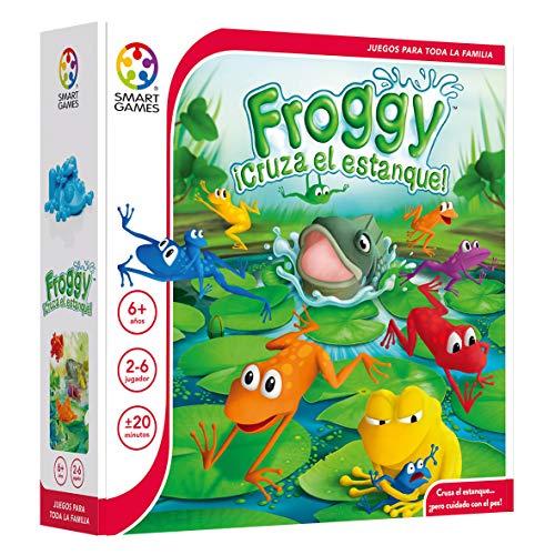 Froggy ¡Cruza el Estanque! – Smart Games, Juego Educativo multijugador para niños, Juegos de Mesa, Jugar en Familia, smartgames, Juguetes educativos niño