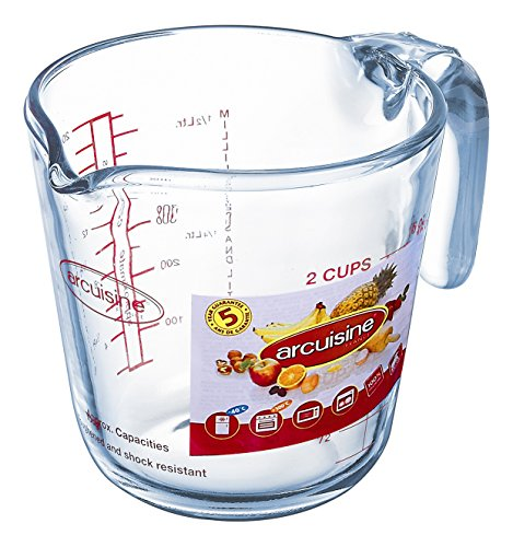 Arcuisine 4937109 Jarra Medidora 0,5L Ocuisine, 0.5 litros, Vidrio, Transparente