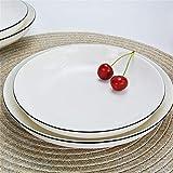 Mzxun Estilo Europeo Jane Placa Placa Placa de cerámica Rice Inicio Plato Microondas hotel restaurante plato hondo de cerámica Placa 20.5Cmx3.5Cm