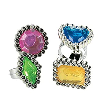 Fun Express Colorful Rhinestone Rings  6dz  - Jewelry - Jewelry General - Rings - 72 Pieces