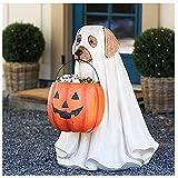 LMJHF Cuenco de Dulces para Perros de Halloween, Truco o Truco, Stand de tazón de Bocadillo de Calabaza de Halloween, para Adornos al Aire Libre Decoraciones de Fiesta de Halloween Regalos,Dog