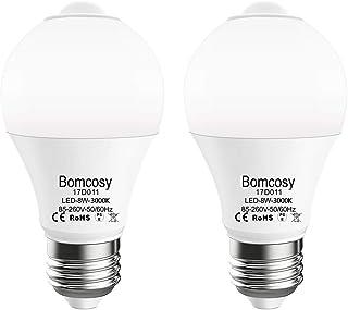Bomcosy LED電球 人感センサー付き E26口金 電球色(8W)3000K 720lm 自動点灯/消灯 ledランプ 2個セット