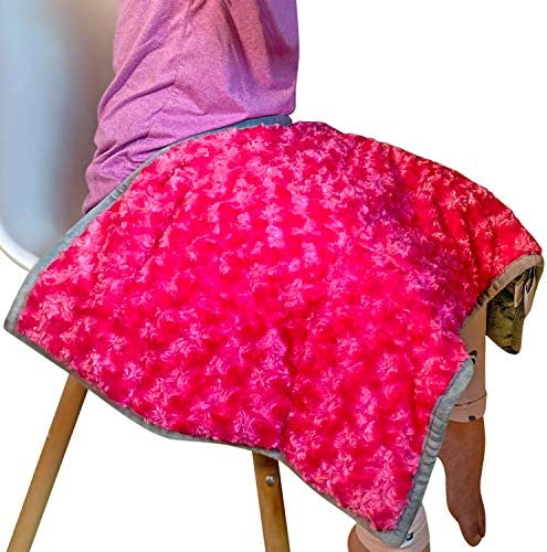 Weighted Lap Pad for Kids or Adults 5lbs 17 5 x28 2 Color Options Blue Pink Pink Kids Lap Blanket product image