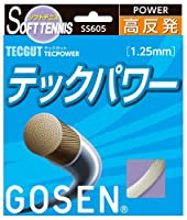 ゴーセン(GOSEN) テックガット テックパワー (ソフトテニス用) ナチュラル SS605NA