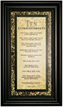 Carpentree 12204 Ten Commandments Framed Art, 9 by 15 by 1 inch